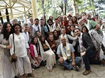הדלאי לאמה במפגש עם ישראלים בדהרמסאלה